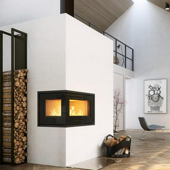 corner wood burning stove fireplace images